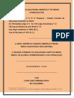 00 - The History Craft Masonry in Brazil - Traduzido por José Prudencio Pinto de Sá
