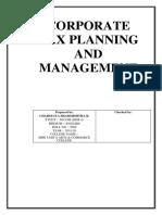 Corporate Tax Planning & Managemen.docx