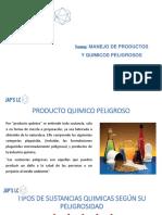 MANEJO DE PRODUCTOS Y QUIMICOS PELIGROSOS-JAPS.pptx