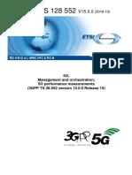 3GPP 5G Performance Measurement