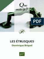 BRIQUEL - Les etrusques - Briquel Dominique