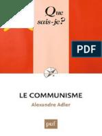 ADLER - Le communisme - Adler Alexandre