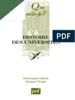 CHARLE-VERGER - Histoire des universites - Charle Christophe, Verger Jacques