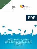 INSTRUCTIVO PARA EL USO DE LA INFRAESTRUCTURA-2016-04-22