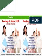 Convite feira de saude 2019 2 panfletos