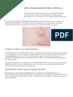 Cómo se transmite el herpes genital y su tratamiento
