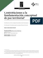 Contribuciones a la paz territorial