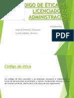 Codigo de Ética Del Licenciado en Administración