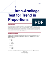 Cochran-Armitage Test for Trend in Proportions