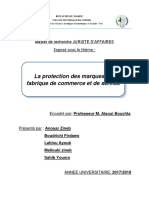 La protection des marques de fabrique de commerce et de service