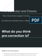 pre-correction and choice making  1