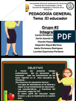 presentacion pedagogia Educador