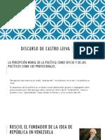 Discurso de Castro Leiva