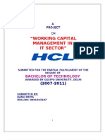 Working Capital Management in It Sector Hcl