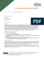 Syllabus for MOOC