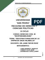 REESTRUCTURACION DE SAGA FALABELLA