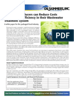 How Food Producers can Reduce Costs   and Increase Efficiency in their Wastewater Treatment System
