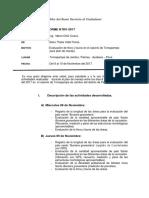 Informe F&F para plan de manejo