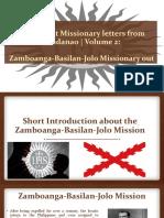 Reporting - Jesuit missionary letters from Mindanao Volume 2 - Zamboanga-Basilan-jolo mission
