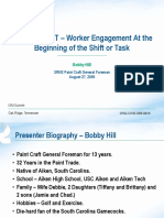 Worker Engagement at the Beginning of a Shift or Task