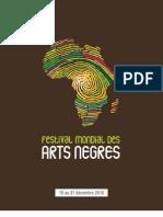 Programme festival Mondial des Arts Nègres