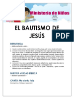 Lección 2 - El Bautismo de Jesús