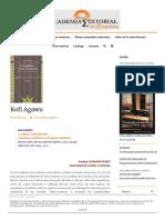 Kofi Agawu - Reseña del libro La Música como discurso.