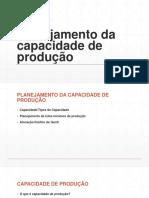 Planejamento da capacidade de produção