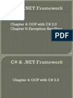 Chapter 4, 6 - OOP  Exception Handling