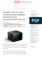 Lançado novo Media Player Amazon Fire TV Cube