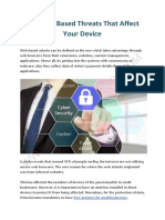 Top Web Based Threats That Affect Your Device