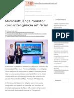 Microsoft lança monitor com inteligência artificial