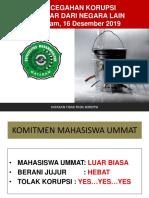 PBAK UMMAT 4, Pencegahan Korupsi