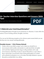 20+ Teacher Interview Questions and Answers (With Tips)