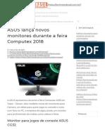 ASUS lança novos monitores durante a feira Computex