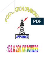 132 KV & 220 KV APTRANSCO -Foundation-Drawings.pdf