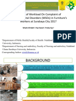 Analysis of Workload On Complaint of Musculoskeletal Disorders.pptx