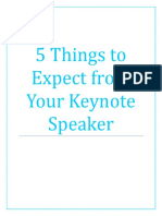 5 Things to Expect From Your Keynote Speaker
