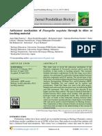 Anticancer mechanism of Pisangulin angulata through in silico as teaching material