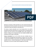 8 Reasons Why You Should Use Solar Power System