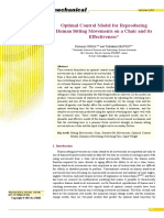 Optimal Control Model for Reproducing Human Sitting Movements on a Chair and its Effectiveness