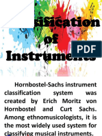 gladiesClassification of Instruments