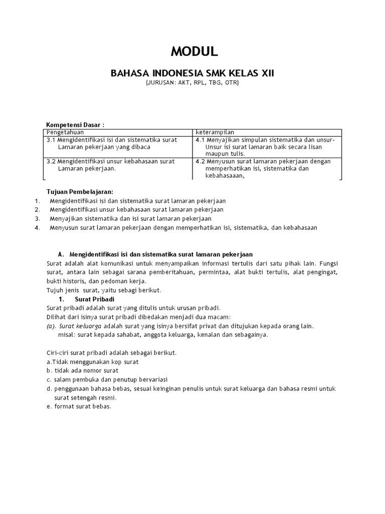Soal Essay Surat Pribadi Dan Surat Dinas Kelas 7