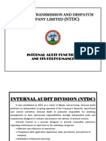 Audit department of NTDC.ppt