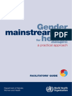 Gender mainstreaming for health managers