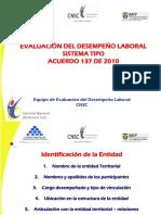 Comisión Nacional del servicio civil. Seminario Evaluación del desempeño.