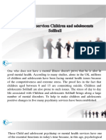 Psychiatry Services Children and Adolescents Solihull