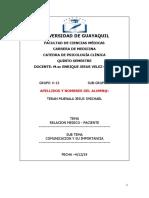 COMUNICACION IMPORTANCIA RELACION MEDICO PACIENTE---jesus teran