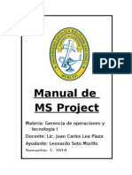 Manual de MS Project Compilado