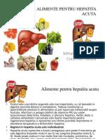 ALIMENTE PENTRU HEPATITA ACUTA